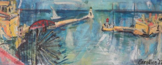 Heading Toward Port – 100×40
